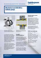 Solution: Mechanical seal GSO-DN in Sulfolan pumps